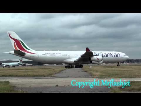 SriLankan Airlines A340-300's {4R-ADE/G}  HEATHROW FLIGHT ARRIVALS DEPARTURES Plane Spotting Guide