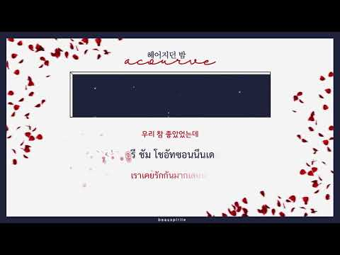 [KARA\THAISUB] Acourve - The night we parted (헤어지던 밤)