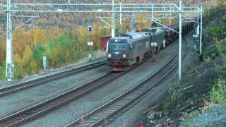 Repeat youtube video HD: LKAB Iore with F050s at Rombak st. 2010-09-18