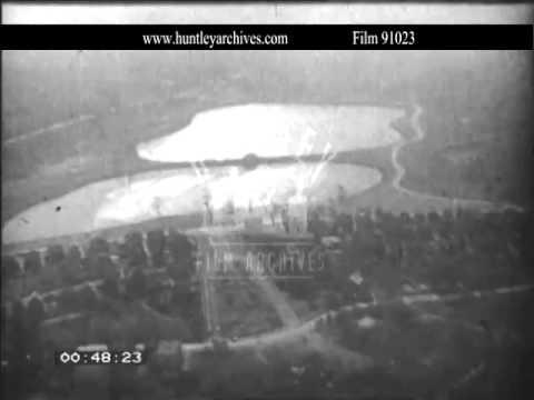 New York.  Aerial views. Manhattan. Port.  1920's  Film 91023