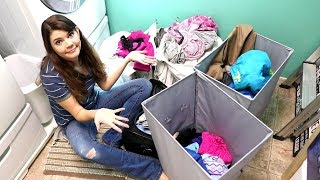 LAUNDRY DAY | WASH FOLD REPEAT | SPEED CLEANING ROUTINE