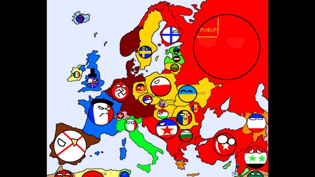 Alternative Map Of Europe.Alternative Future Of Europe In Countryballs 5 Youtube