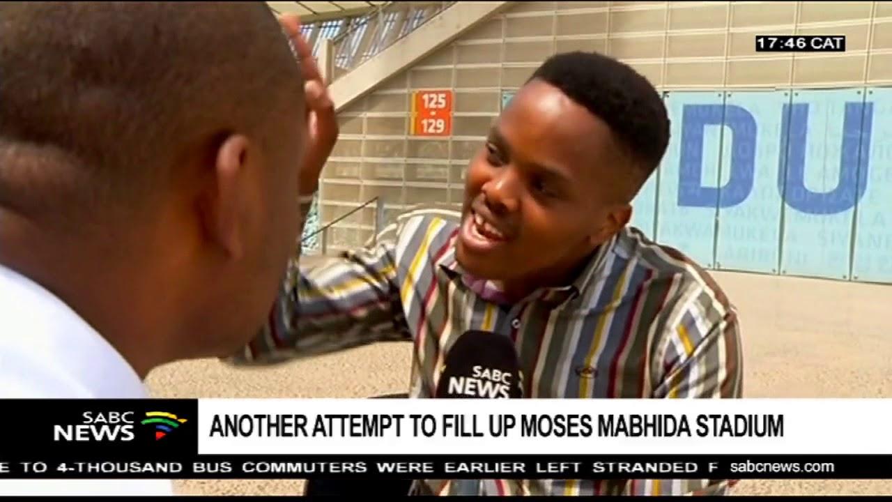 Maskandi musician, Khuzani Mpungose attempts to fill the Moses Mabhida
