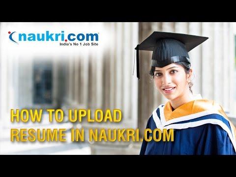 How to Upload Resume in Naukri.com   Apply job in Naukri.com in hindi