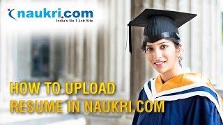 How to Upload Resume in Naukri.com | Apply job in Naukri.com in hindi