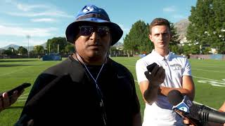 BYU Football - Fall Camp - August 19, 2019 - Kalani Sitake Media