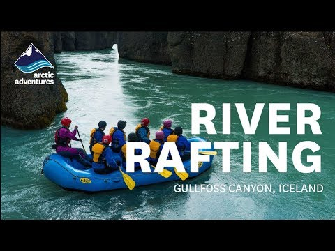 River rafting in Iceland's Gullfoss canyon