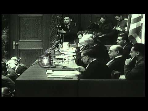 Judge Geoffrey Lawrence enters the court room, plea is made and judge announces r...HD Stock Footage