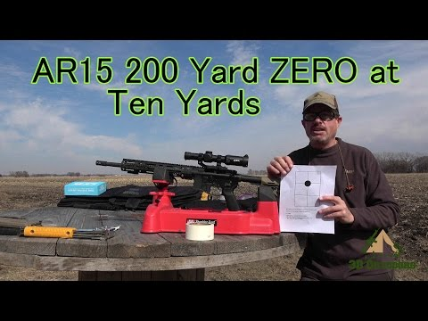 AR15 200 Yard ZERO at 10 Yards