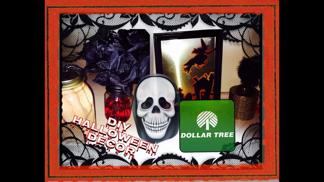 DOLLAR TREE DIY  3 Easy Decor Ideas for HALLOWEEN!  YouTube ~ 222626_Halloween Decoration Ideas Dollar Tree