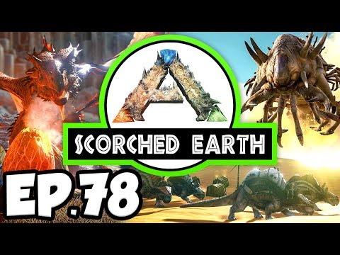 ARK: Scorched Earth Ep.78 - BUNCH OF LYSTROSAURUS, GREENHOUSE EXPANSION! (Modded Dinosaurs Gameplay)