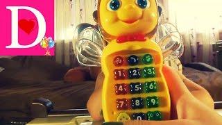 Детский телефон, обзор телефона веселая музыка Baby phone cartoon, phone review fun music