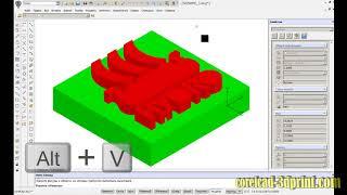 CorelCAD уроки  Импорт векторных рисунков формата CDR   Создание и печать 3D модели без построений