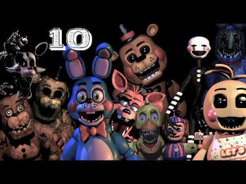 top 10 five nights at freddy s monsters youtube