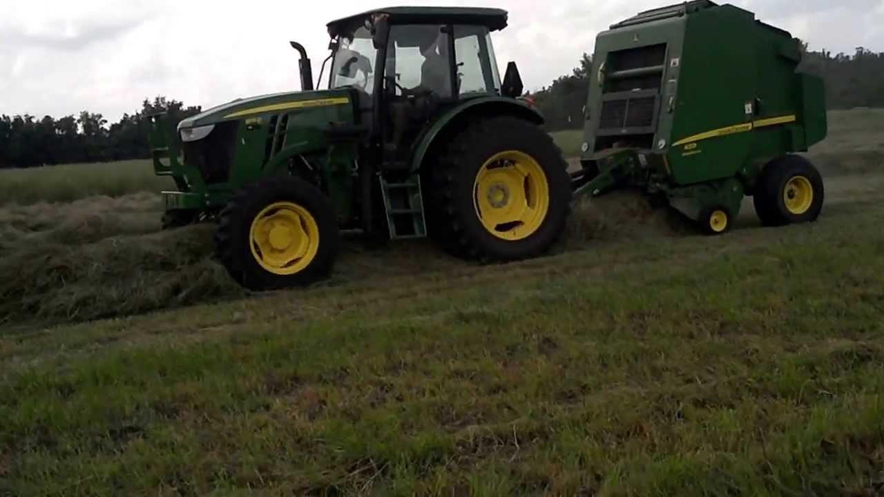 Meade Tractor - Deere 6115D Tractor & 459 Silage Special Baler Demo