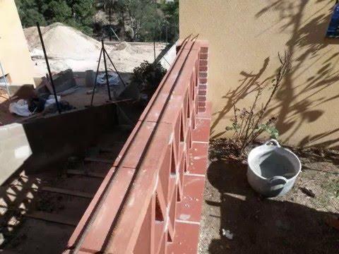 Construcci n baranda rustica catalana youtube Construir una pileta de ladrillos