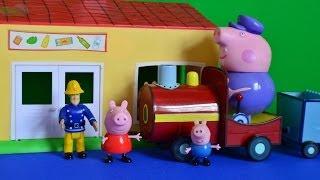 Fireman sam Peppa pig full episode Grandpa pig Train George pig At The Shops WOW