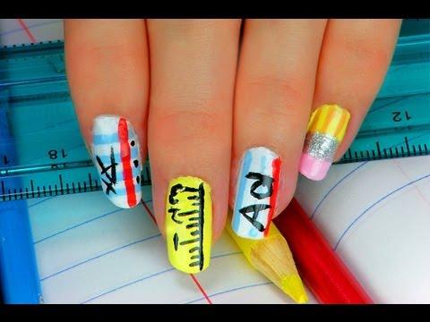 5 Fun Back To School Nail Designs Youtube