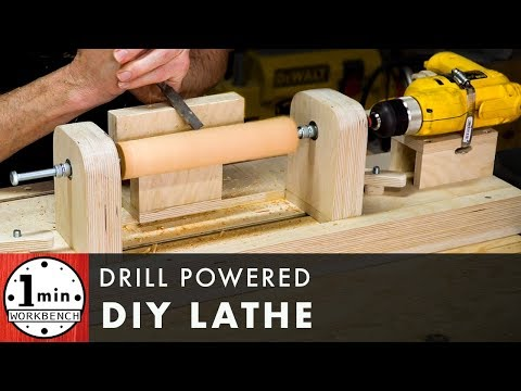 DIY Drill Powered Lathe