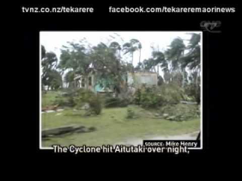 Cook Islands Cyclone Pat Te Karere Maori News TVNZ 11 Feb 2010 English Version