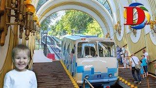 Железная дорога. Виды железнодорожного транспорта. Фуникулер Киев.Трамвай. Funicular Kiev.