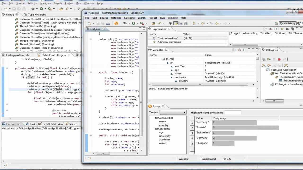 Array Explorer: Visualizing Arrays in the Eclipse Java IDE