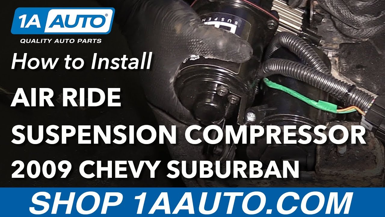 how to replace air ride suspension compressor 07 14 chevy suburban [ 1280 x 720 Pixel ]