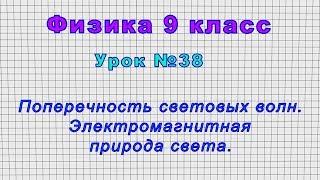 Физика 9 класс (Урок№38 - Поперечность световых волн. Электромагнитная природа света.)