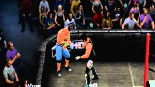 wwe 13 dream match aj styles vs john cena survivor series arena