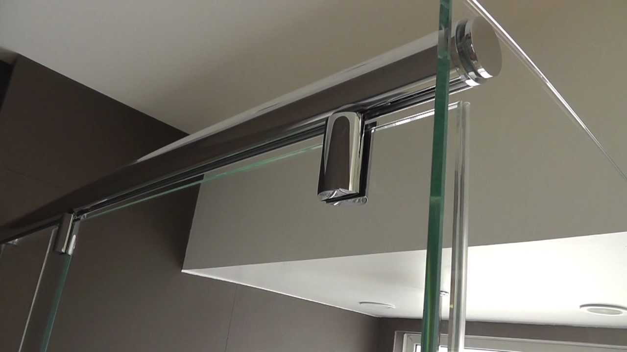 L Shape Hydroslide Crl Frameless Shower Door Youtube
