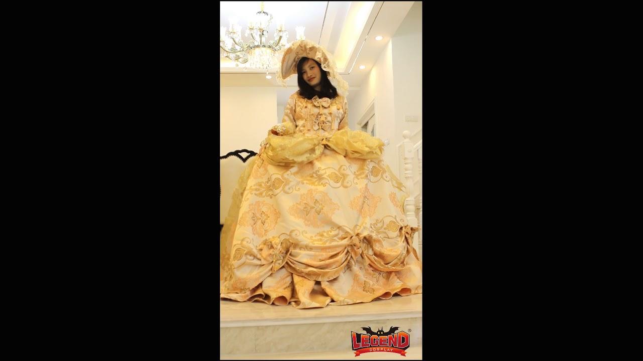Victorian Wedding Dress Ball Gown Fantasy Halloween Costume - YouTube