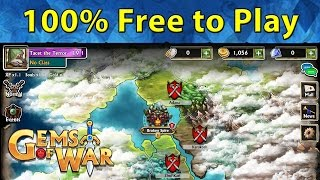 Playing 100% Free to Play | New Account 🎮 Ep. 1 💎 Gems of War New Player Assisting Let's Play