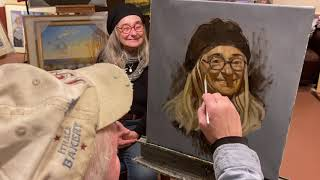 Portrait Painting from Life- Cynthia Foley in oil by Brian Keeler