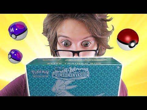 Opening a Pokemon Crimson Invasion Elite Trainer Box!