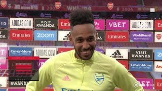 "Aubameyang ""really proud"" at becoming the quickest player to score 50 PL goals for Arsenal"