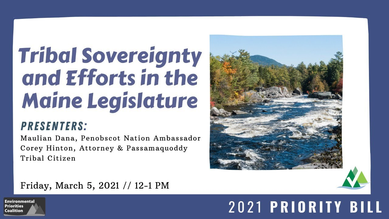 Lunch & Learn: Tribal Sovereignty and Efforts in the Maine Legislature