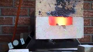 Satanite coating on the inside of the gas forge