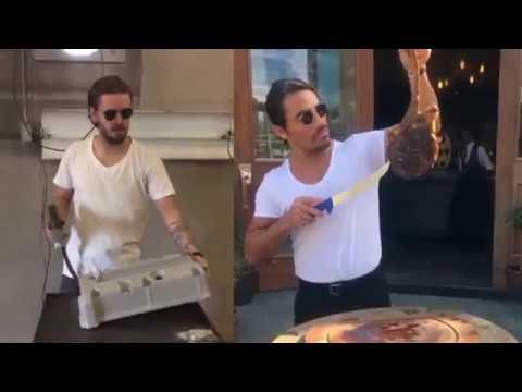 hqdefault powdercoating turkish chef satisfying meat cutting & salt sprinkle