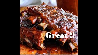 The best way to make great BBQ ribs  grilled juicy steak 2020