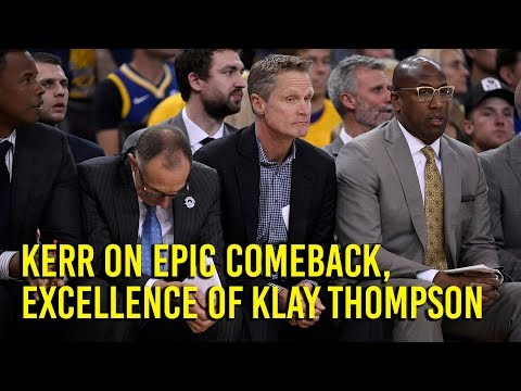 NBA Playoffs: Kerr on Warriors comeback and Klay Thompson being machine