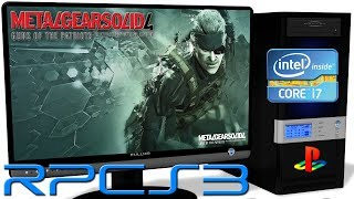 RPCS3 0.0.6 [PS3 Emulator] - Metal Gear Solid 4: Guns of the Patriots [1st Boot] Vulkan #1