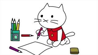 Рисуем котенка Мусти из мультфильма
