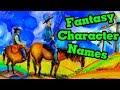 World Building- Fantasy Character Names