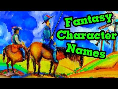 Creating tasy Character Names