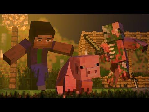 تحول الخنزير ( أنيميشن ماين كرافت - Minecraft Animation )