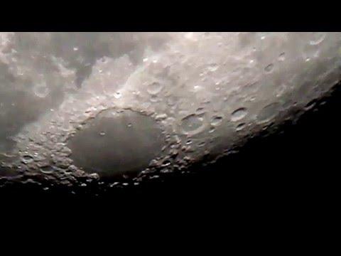 The Moon through an 8 Inch Telescope