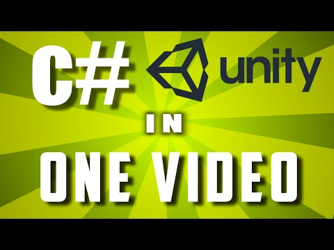 Learn C# In One Video: Unity C# Scripting Tutorial For Beginners