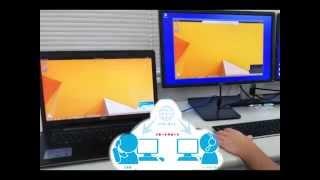 日本テレックスシステムが提供しているリモート(遠隔)サポートを動画...