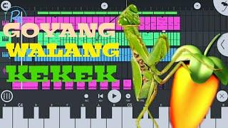 Goyang walang kekek, cover music from Fl Studio Mobile