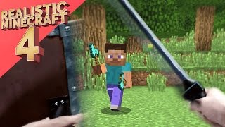 Realistic Minecraft 4 ~ The  Forest Encounter